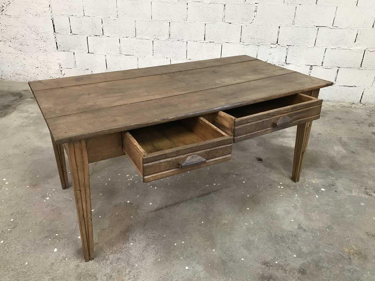 vintage eichenholz bauernhaus tisch bei pamono kaufen. Black Bedroom Furniture Sets. Home Design Ideas