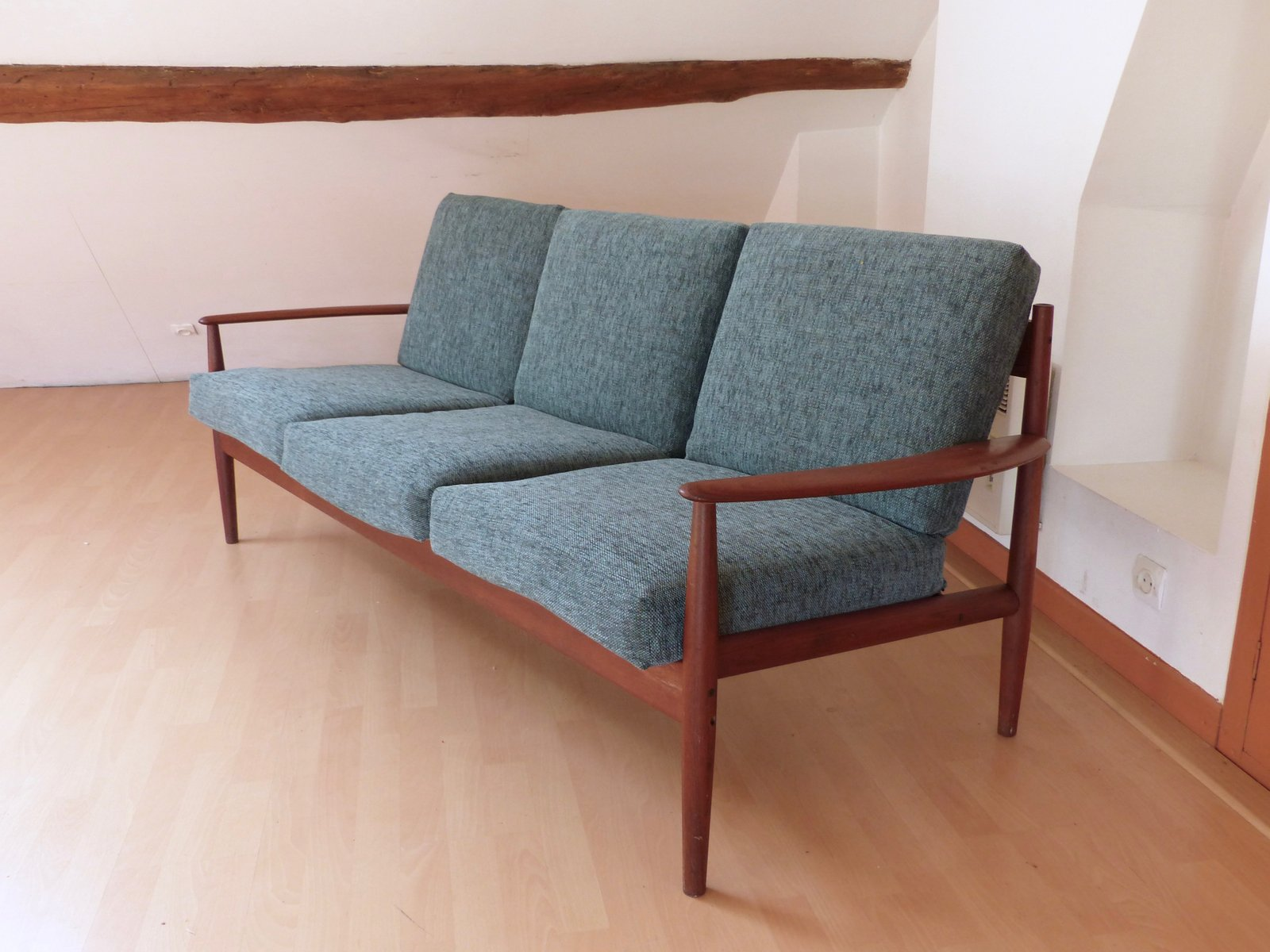 Model 118 Scandinavian Teak Sofa By Grete Jalk For France S N 1960s For Sale At Pamono