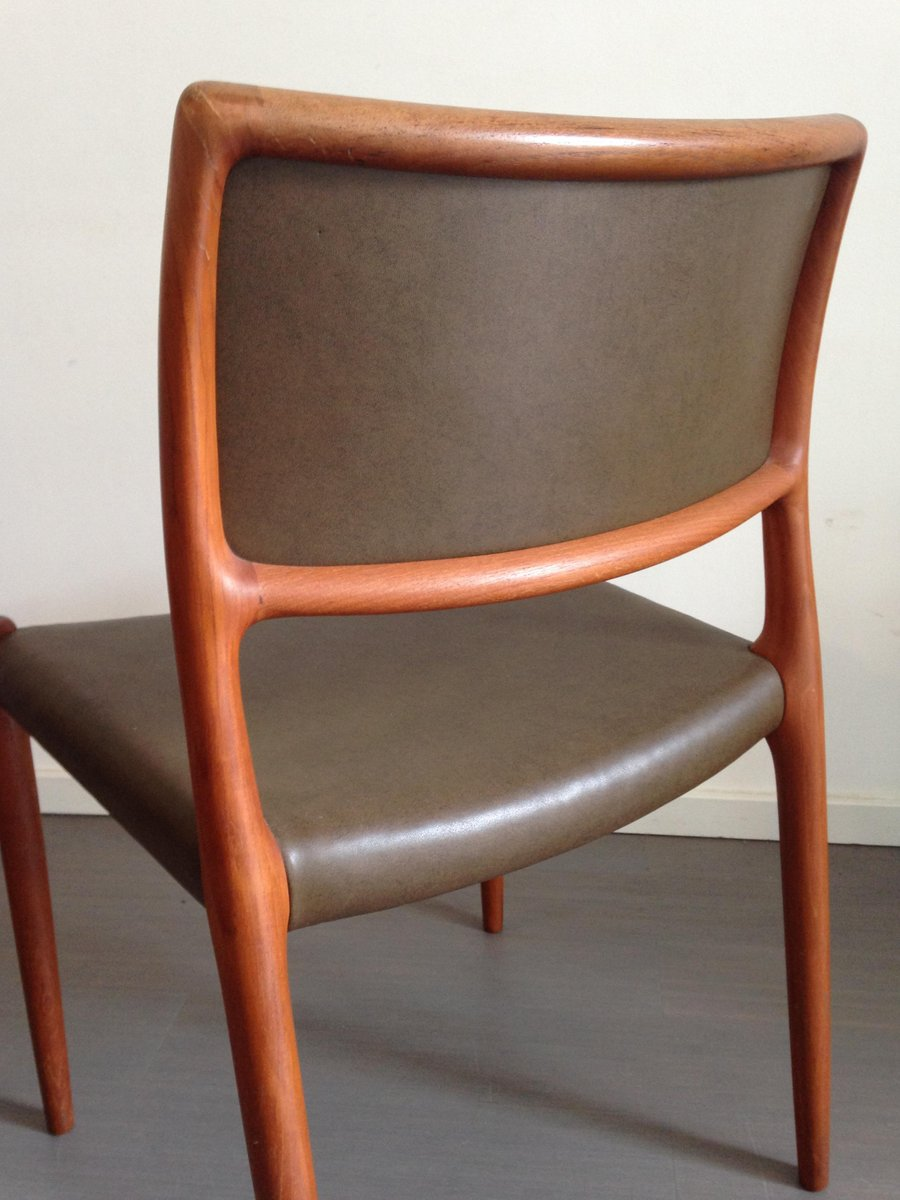 Mid century model 80 chairs by niels o m ller for j l for 80s furniture for sale
