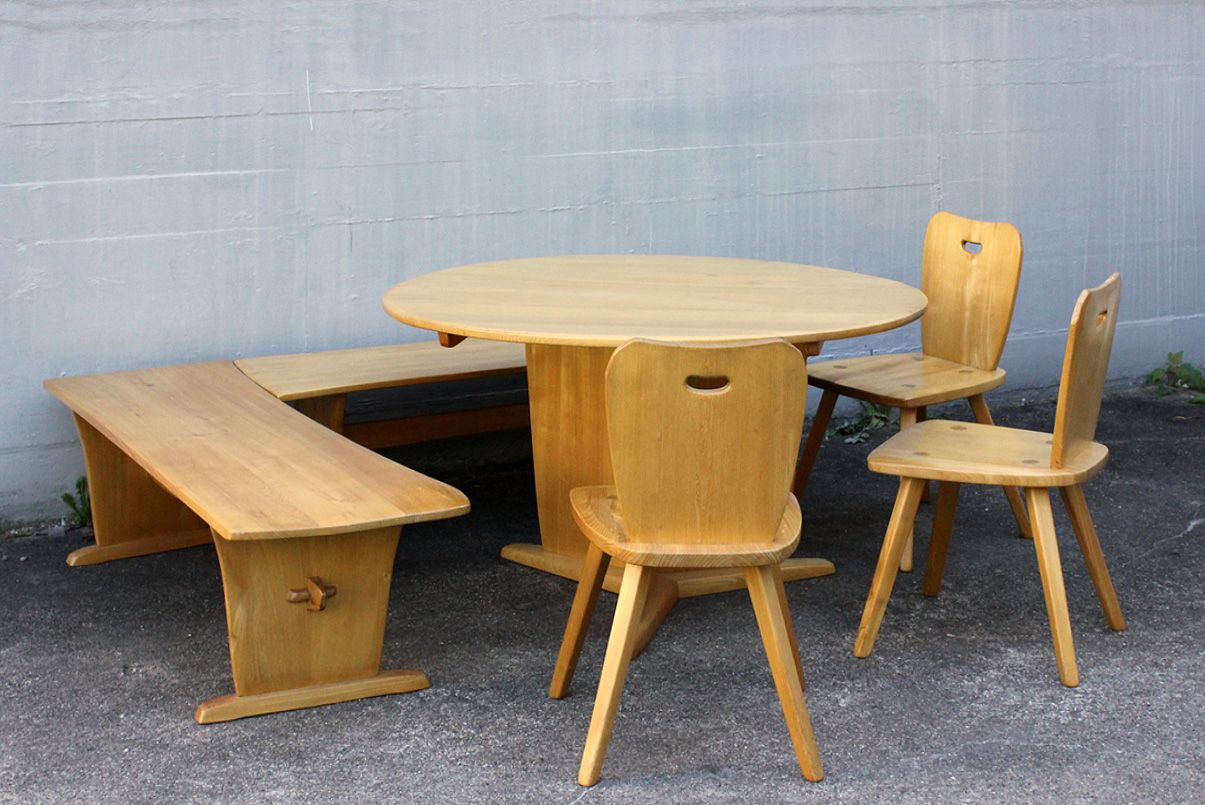 Mid Century Dining Set By Franz Xaver Sproll For Sproll