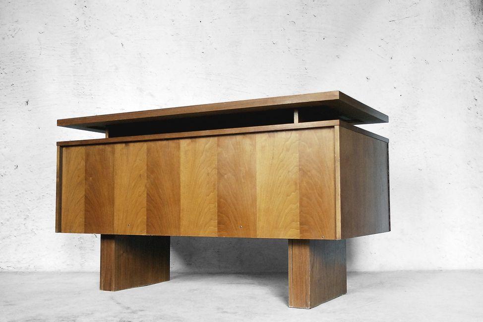 deutscher moderner geometrischer schreibtisch 1950er bei pamono kaufen. Black Bedroom Furniture Sets. Home Design Ideas