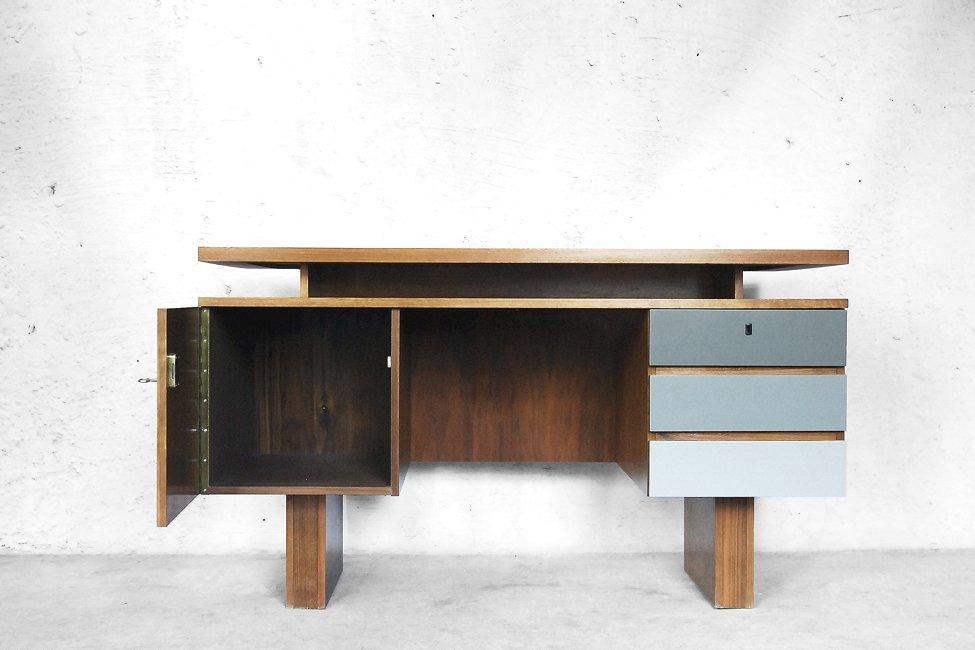 deutscher moderner geometrischer schreibtisch 1950er bei. Black Bedroom Furniture Sets. Home Design Ideas