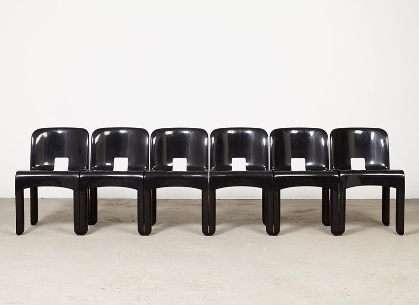 Vintage Universale Chairs By Joe Colombo For Kartell Set Of - Kartell furniture