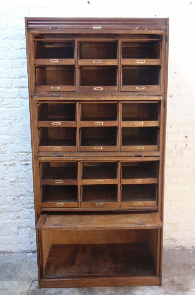 Vintage Eighteen-Drawer Oak Haberdashery Cabinet from Dudley & Co ...