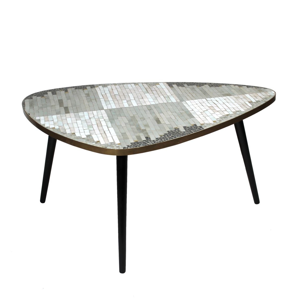 German Coffee Table With Mosaic 1950s For Sale At Pamono