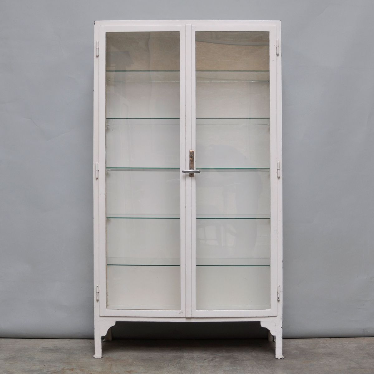 Vintage Steel And Glass Medicine Cabinet, 1940s Part 93