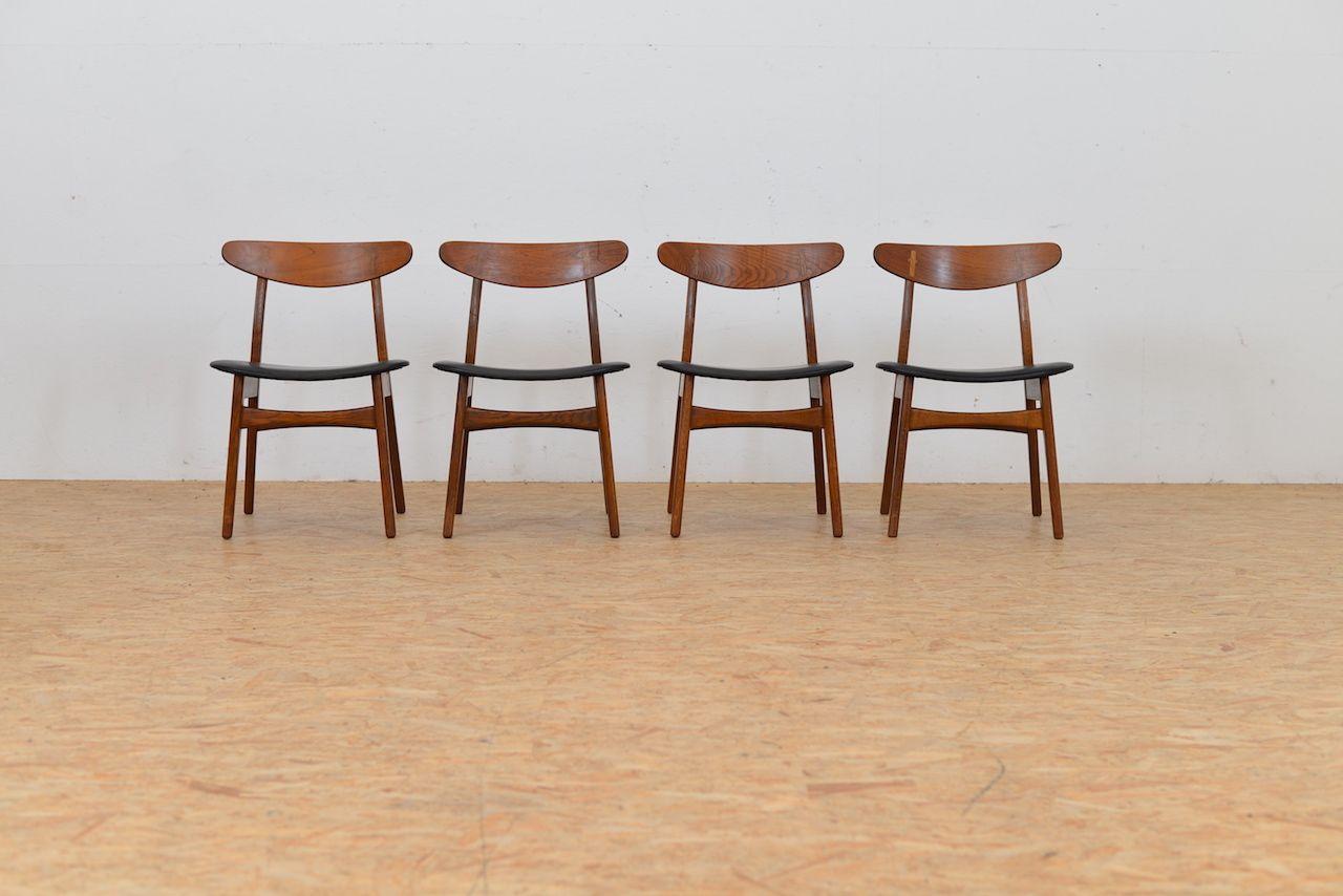 Mid Century Ch30 Chairs By Hans J Wegner For Carl Hansen