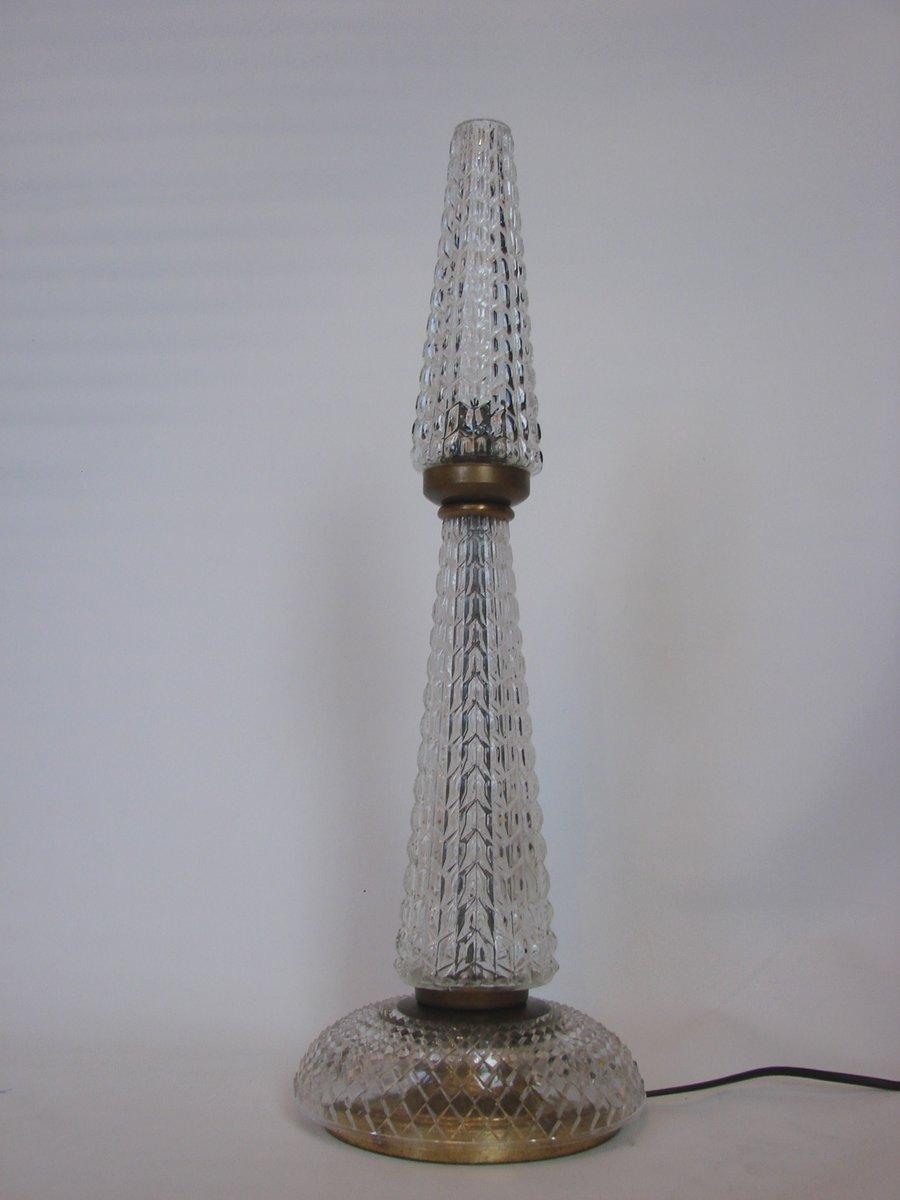 lampe aus kristall messing 1960er bei pamono kaufen. Black Bedroom Furniture Sets. Home Design Ideas