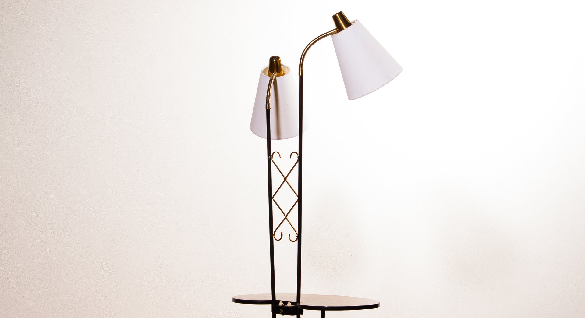 Two light floor lamp with table 1950s for sale at pamono for 1950 floor lamp