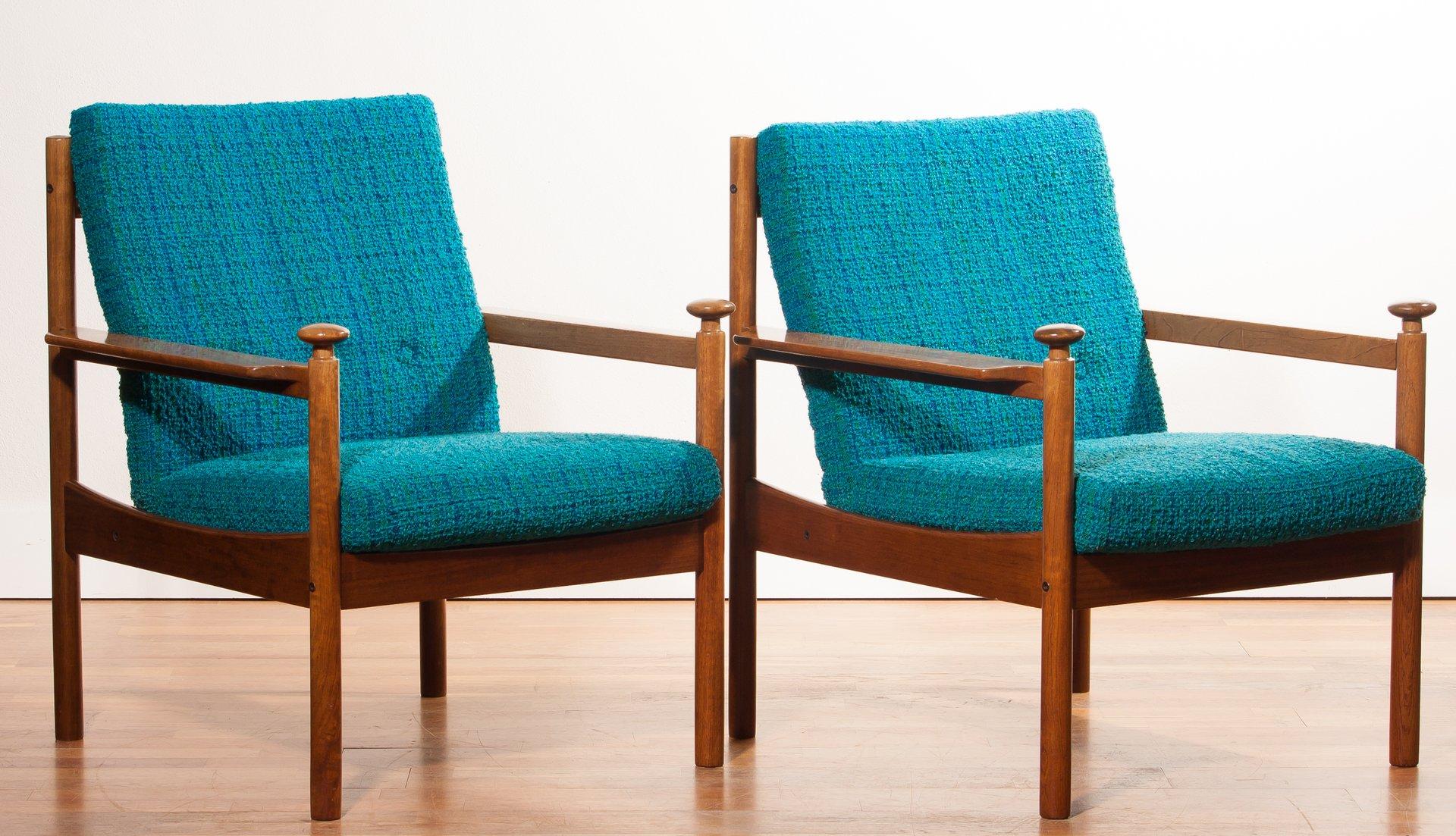 Lounge Chairs by Torbjørn Afdal for Sandvik & Co Møbler 1950s Set of 2
