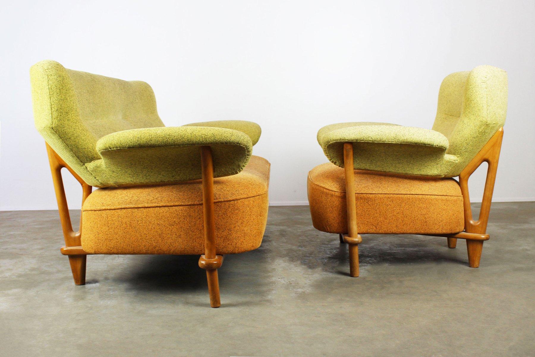 f109 sitzgruppe mit sessel sofa von theo ruth f r artifort 1950 bei pamono kaufen. Black Bedroom Furniture Sets. Home Design Ideas