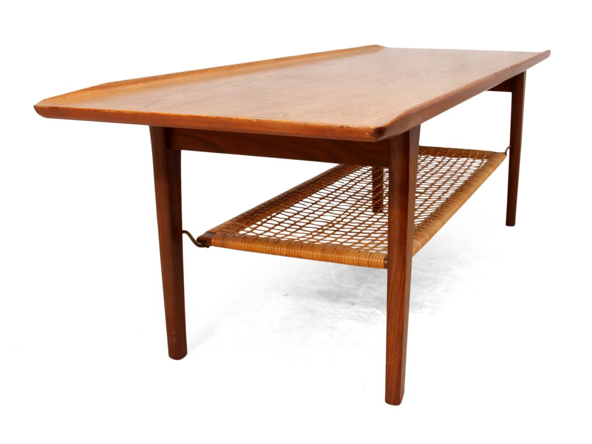 Teak Coffee Table By Hans J Wegner 1960s For Sale At Pamono