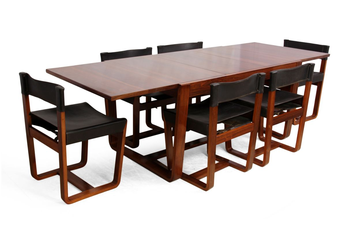 Mid-Century Modern Rosewood Dining Table and Chairs by Gunther ...