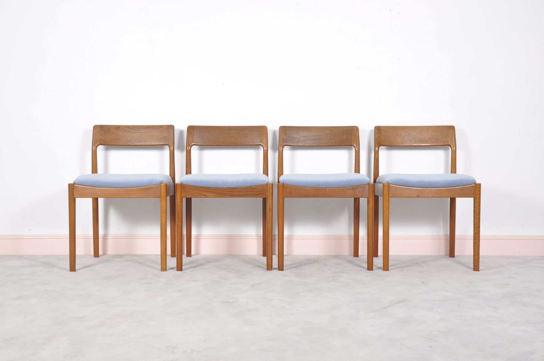 Mid Century Modern Teak Dining Chairs by Johannes Norgaard for