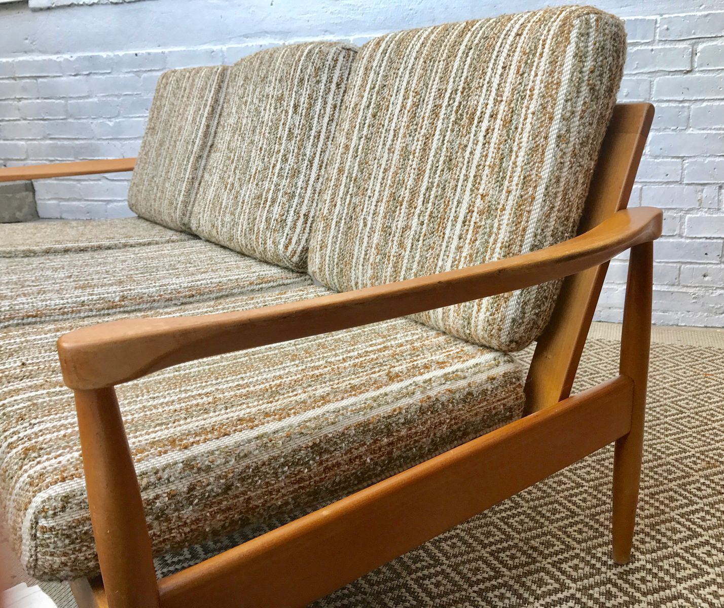 Mid Century Wooden Sofa For Sale At Pamono