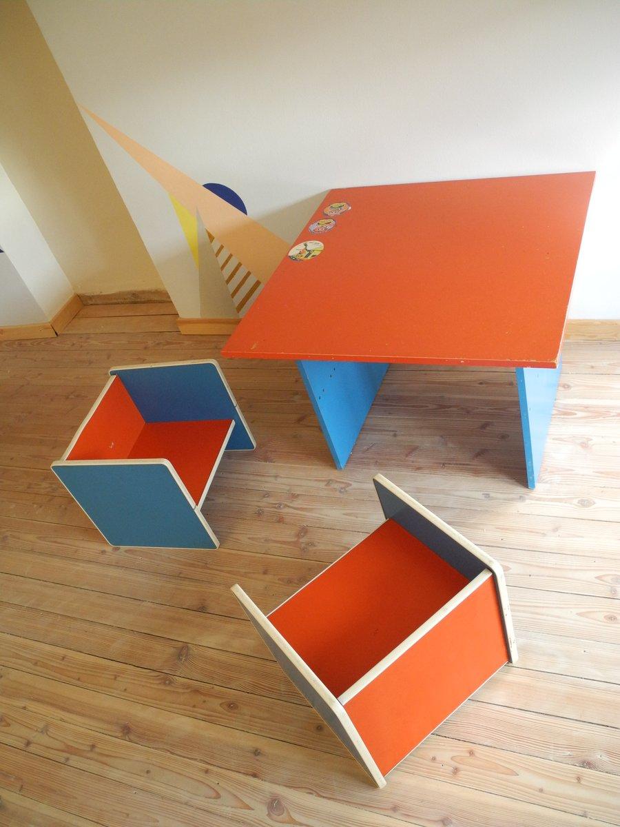 kindertisch und st hle 1970er bei pamono kaufen. Black Bedroom Furniture Sets. Home Design Ideas