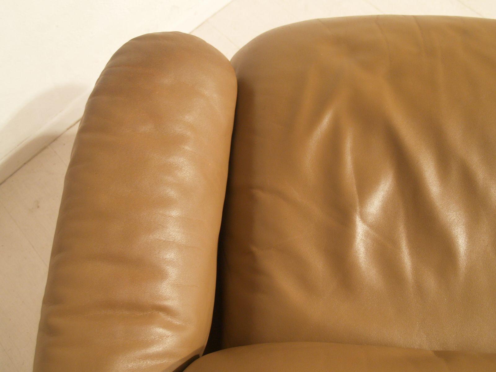 vintage drei sitzer ledersofa von de sede bei pamono kaufen. Black Bedroom Furniture Sets. Home Design Ideas