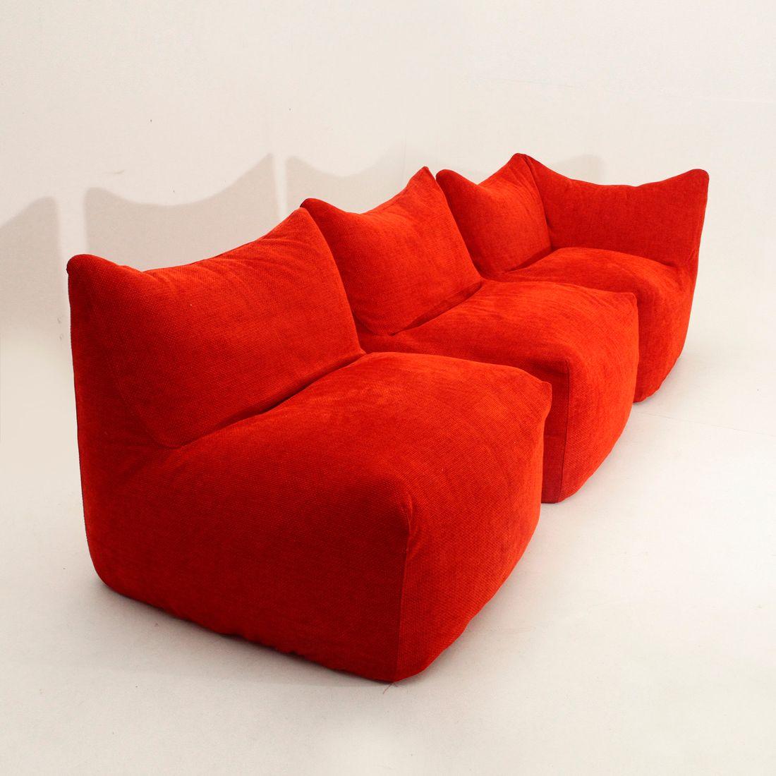 canap modulaire le bambole par mario bellini pour b b. Black Bedroom Furniture Sets. Home Design Ideas