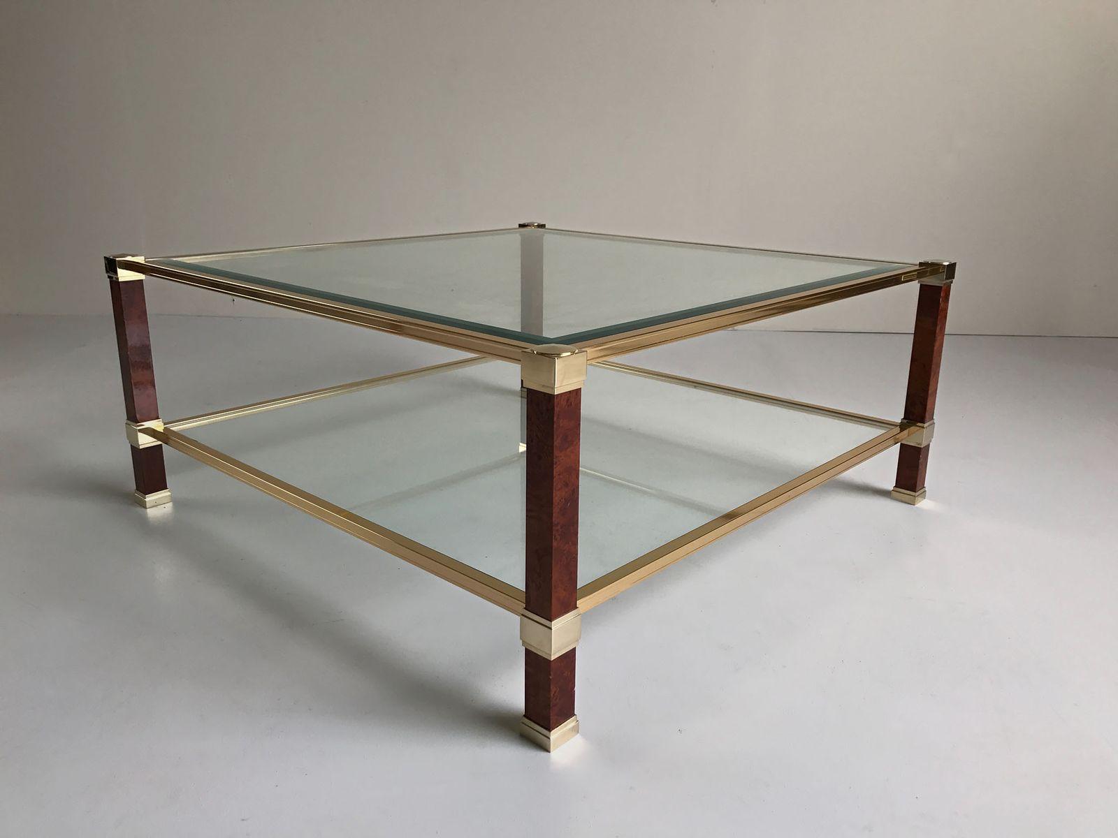 tisch mit doppelter ablage von pierre vandel 1980er bei pamono kaufen. Black Bedroom Furniture Sets. Home Design Ideas