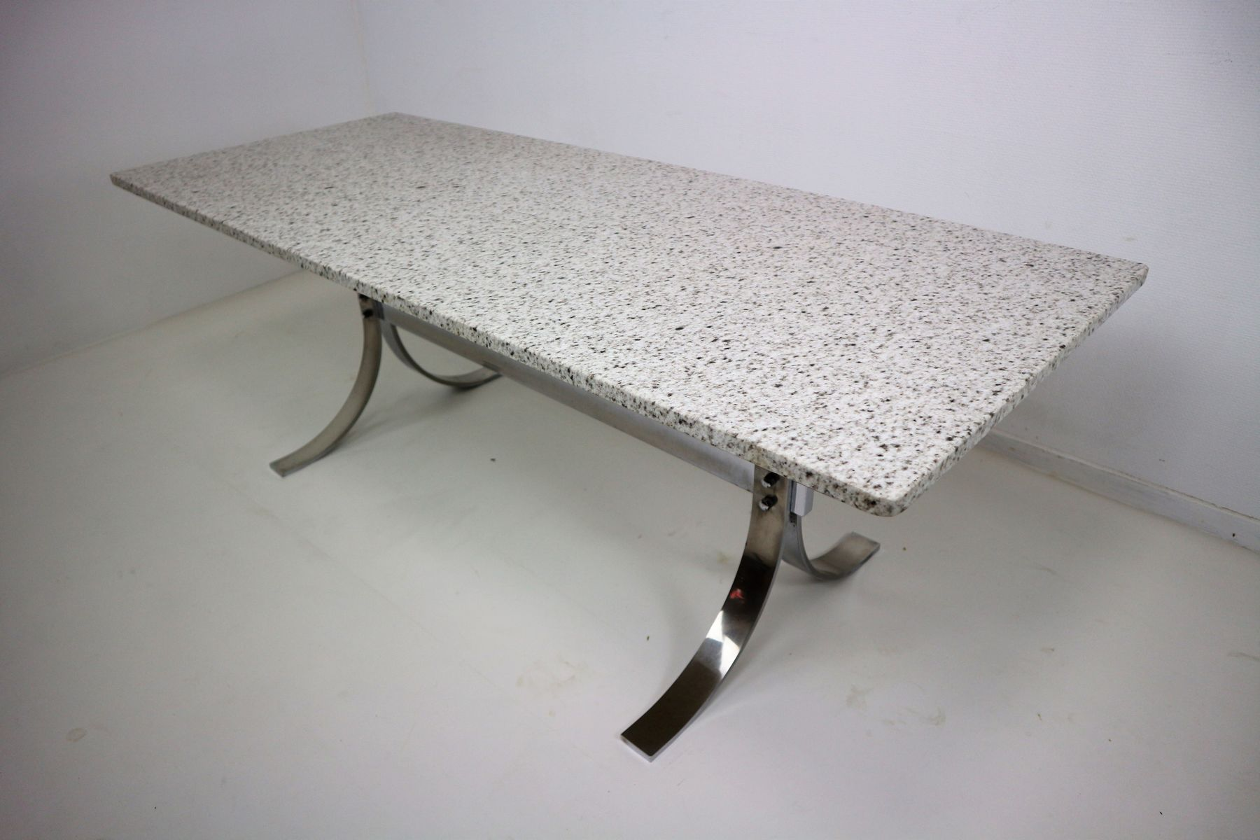 Vintage Granite & Chrome Coffee Table for sale at Pamono