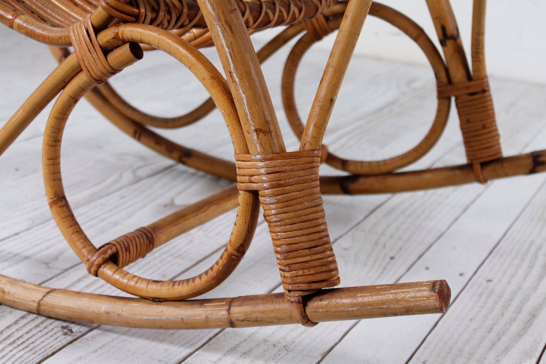 Vintage bambus schaukelstuhl 1950er bei pamono kaufen for Bambus schaukelstuhl