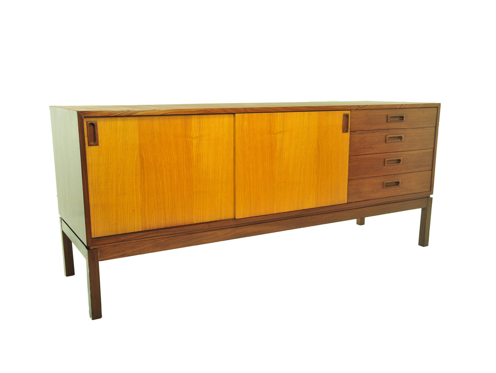 minimalist sideboard with sliding doors 1960s for sale at. Black Bedroom Furniture Sets. Home Design Ideas