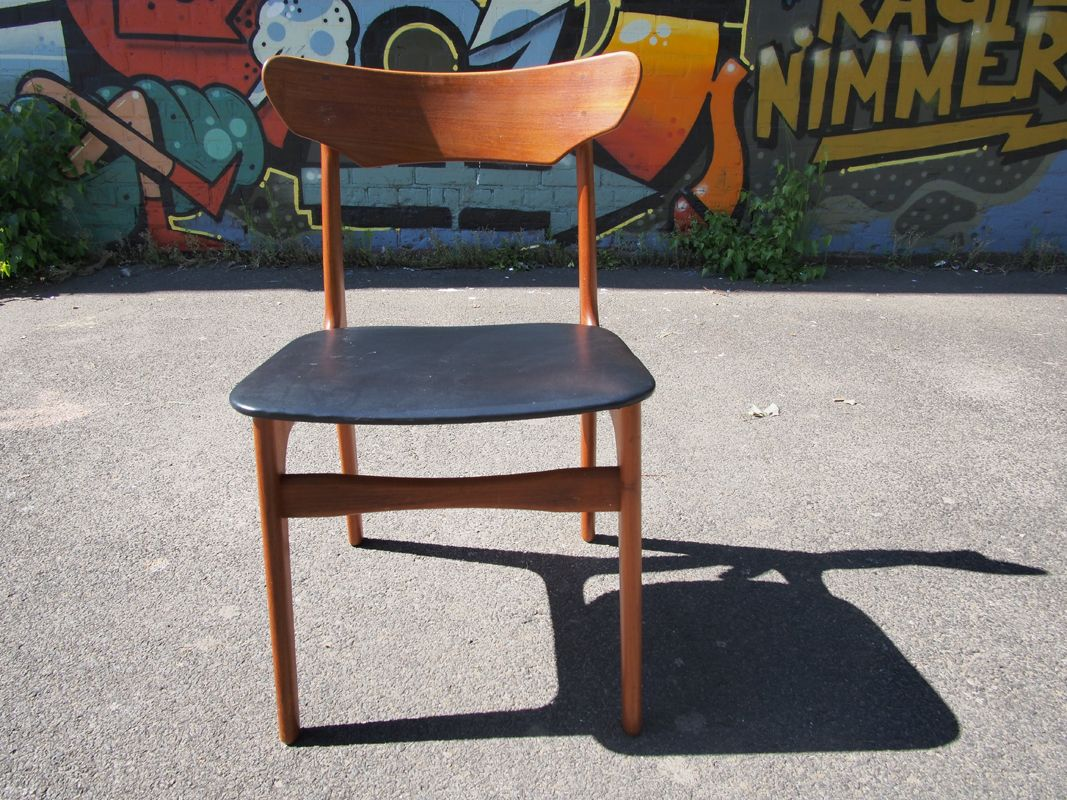 Mid century danish teak chair for sale at pamono for Z chair mid century