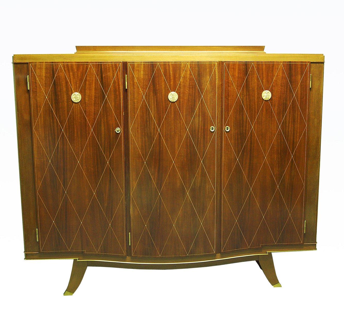 Vintage Art Deco Mahogany Cabinet From Albert Fournier