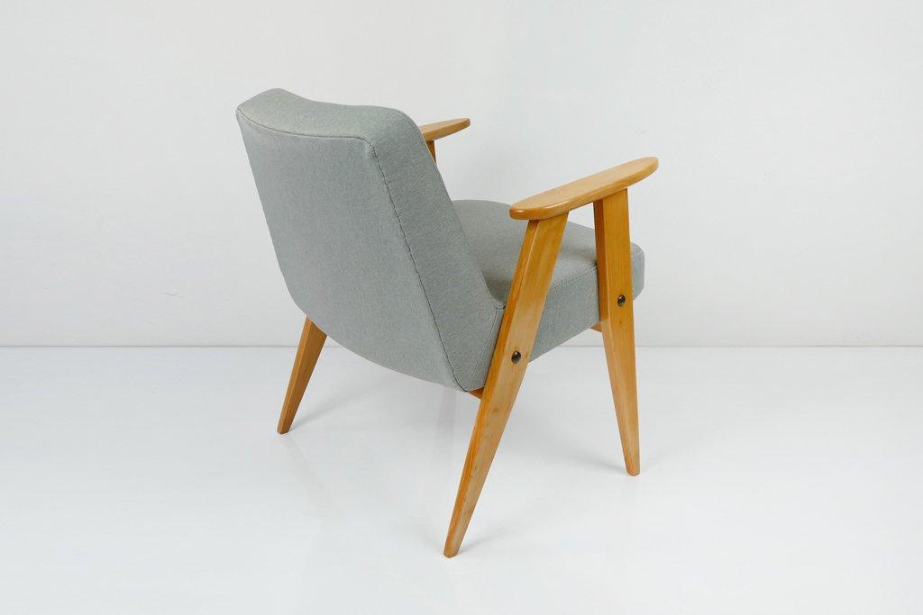 grauer vintage modell 366 sessel von j zef chierowski bei pamono kaufen. Black Bedroom Furniture Sets. Home Design Ideas