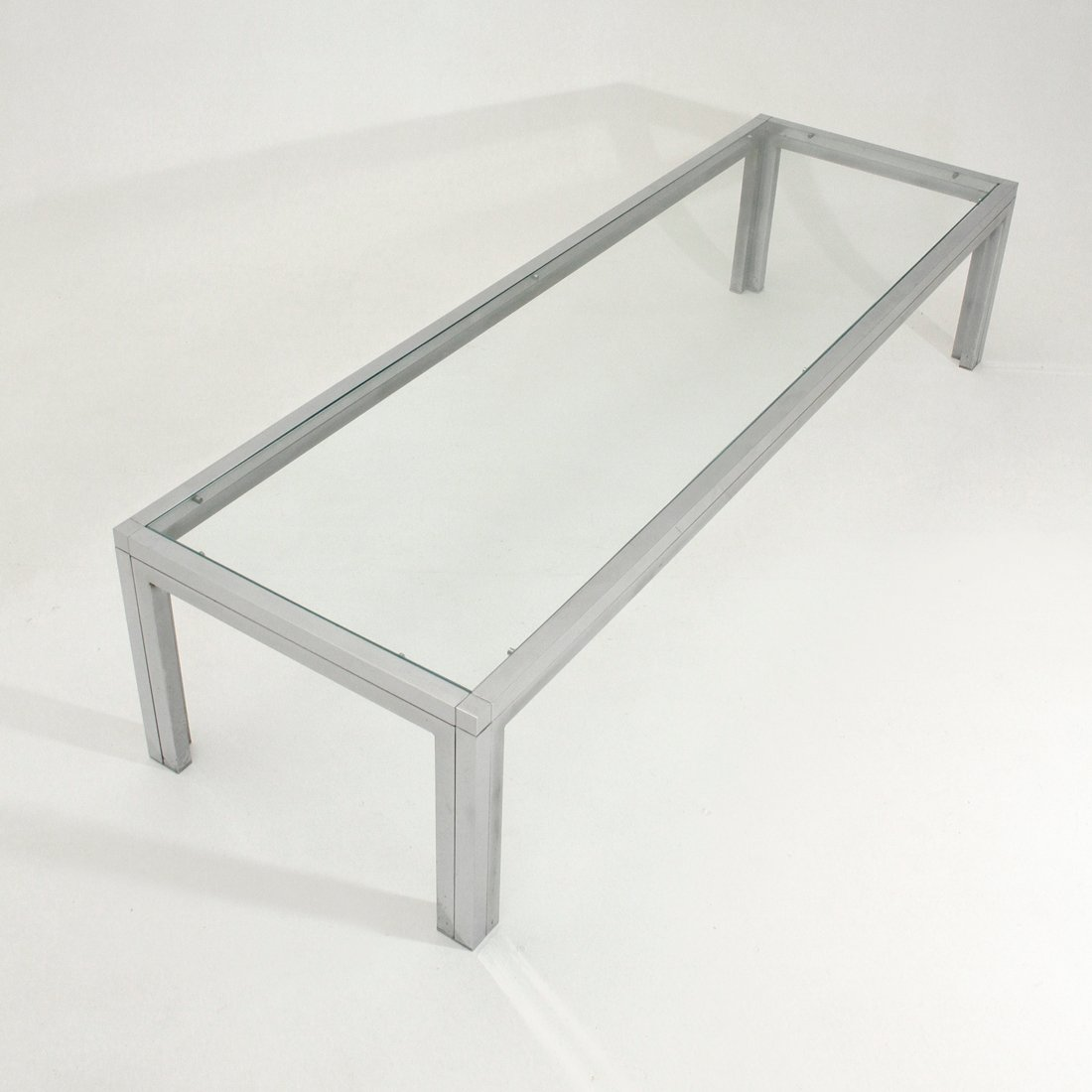 Italian Chrome Glass Coffee Table For Sale At Pamono