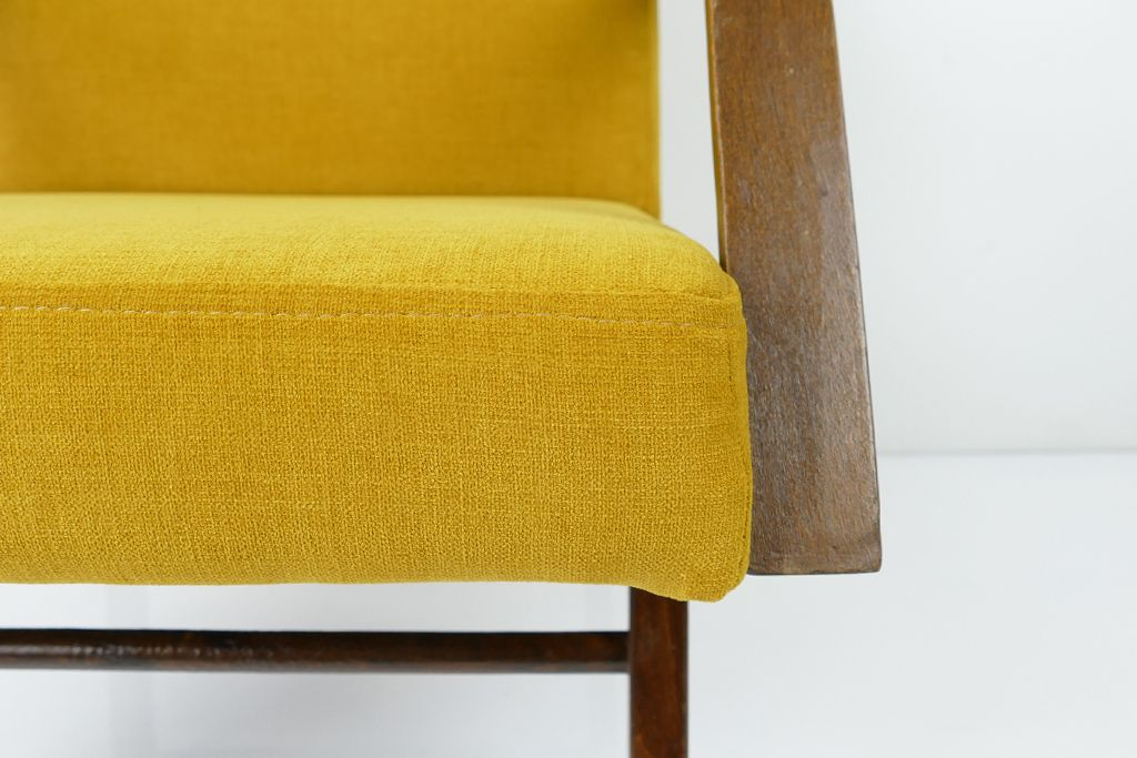 Vintage Yellow Armchair 1960s for sale at Pamono