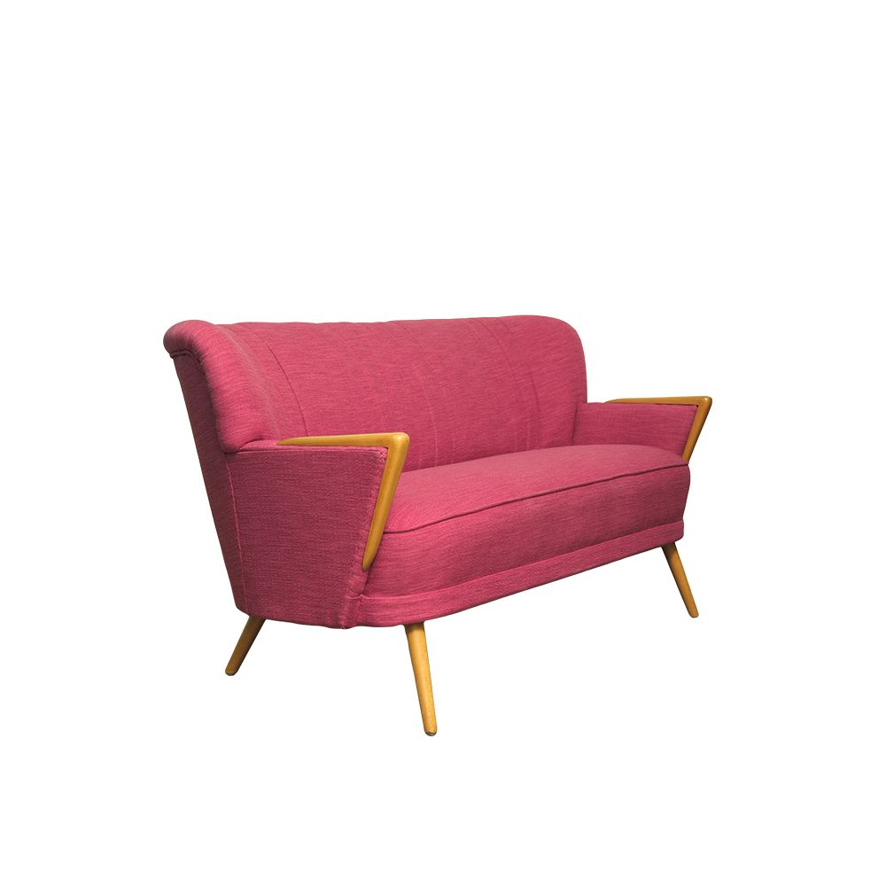 Mid Century Pink Two Seater Sofa 1960s For Sale At Pamono