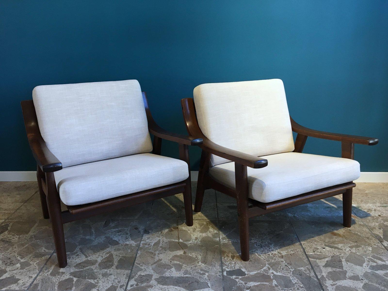 eiche ge530 sessel von hans j wegner f r getama bei. Black Bedroom Furniture Sets. Home Design Ideas