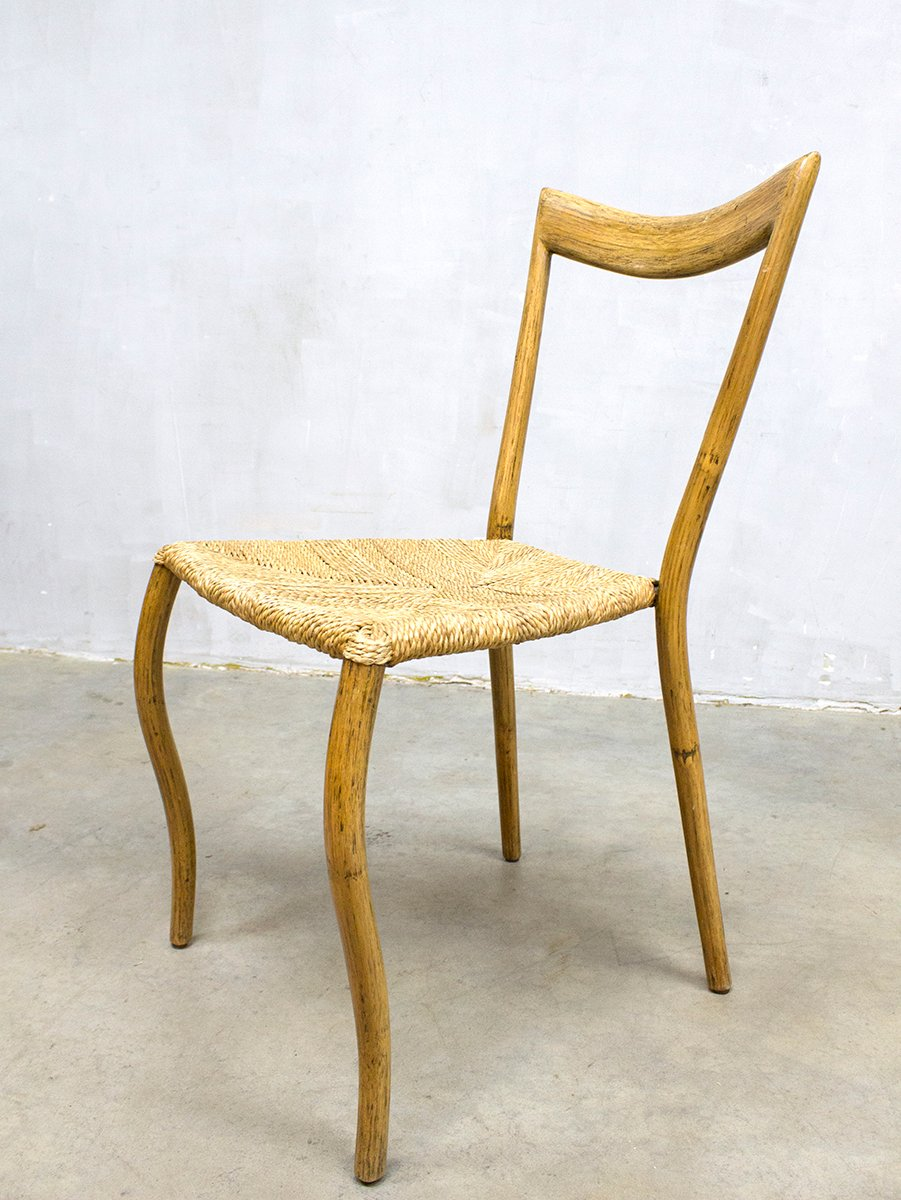 Mid Century Bamboo Dining Chairs Set Of 8 For Sale At Pamono