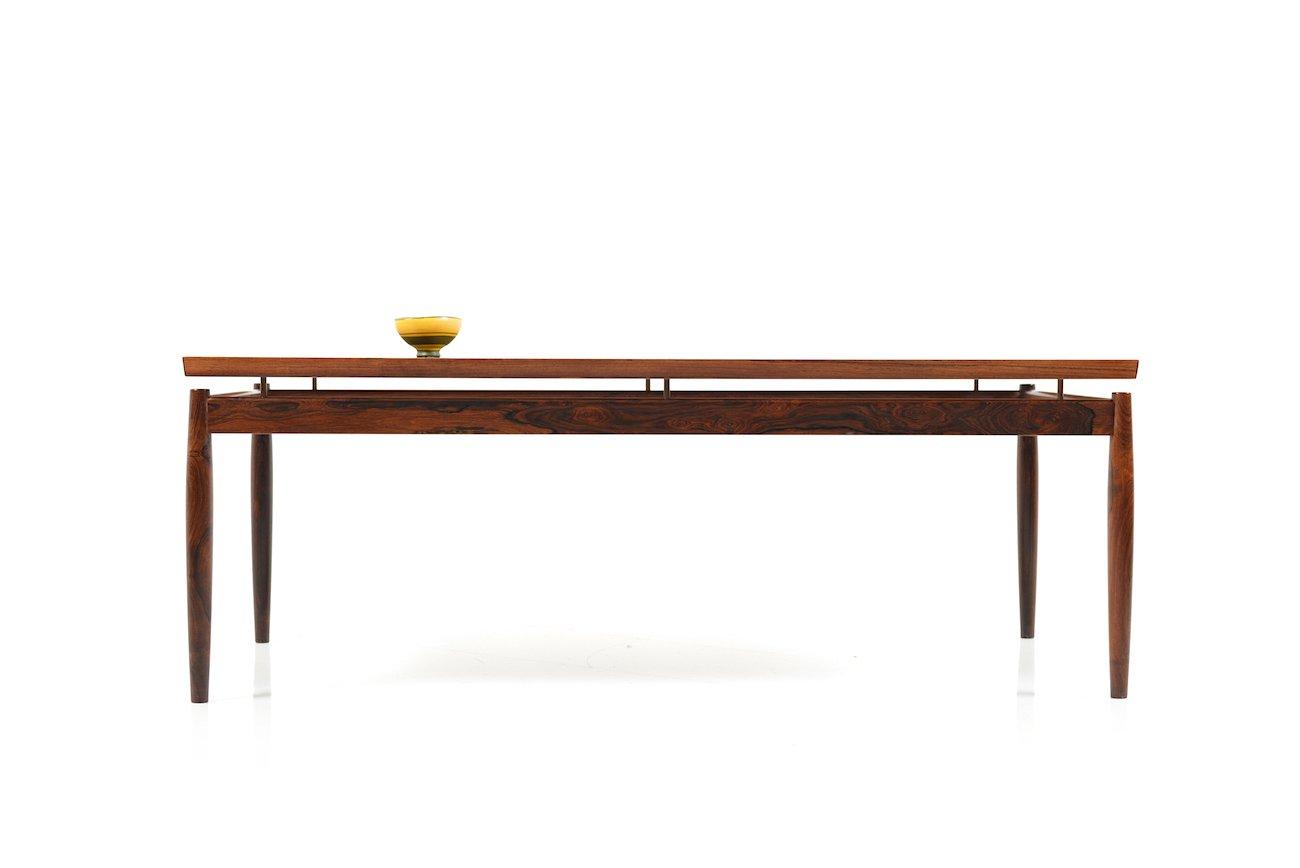 Mid century rectangular rosewood coffee table by grete jalk for mid century rectangular rosewood coffee table by grete jalk for france sn geotapseo Choice Image