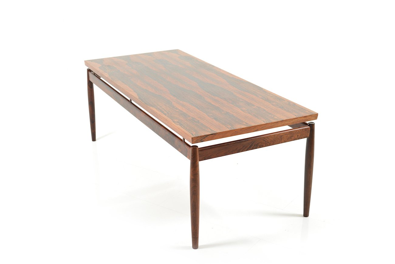Mid Century Rectangular Rosewood Coffee Table By Grete Jalk For France S N For Sale At Pamono