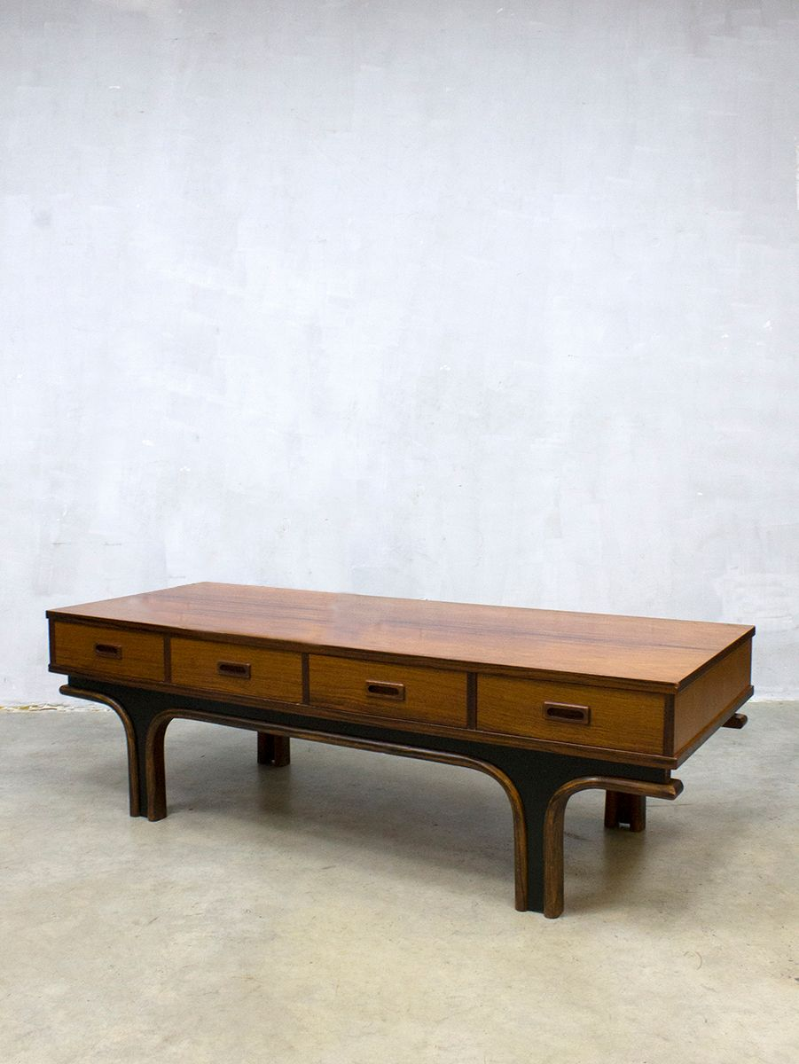 Low Coffee Table by Gianfranco Frattini for Bernini 1950s for