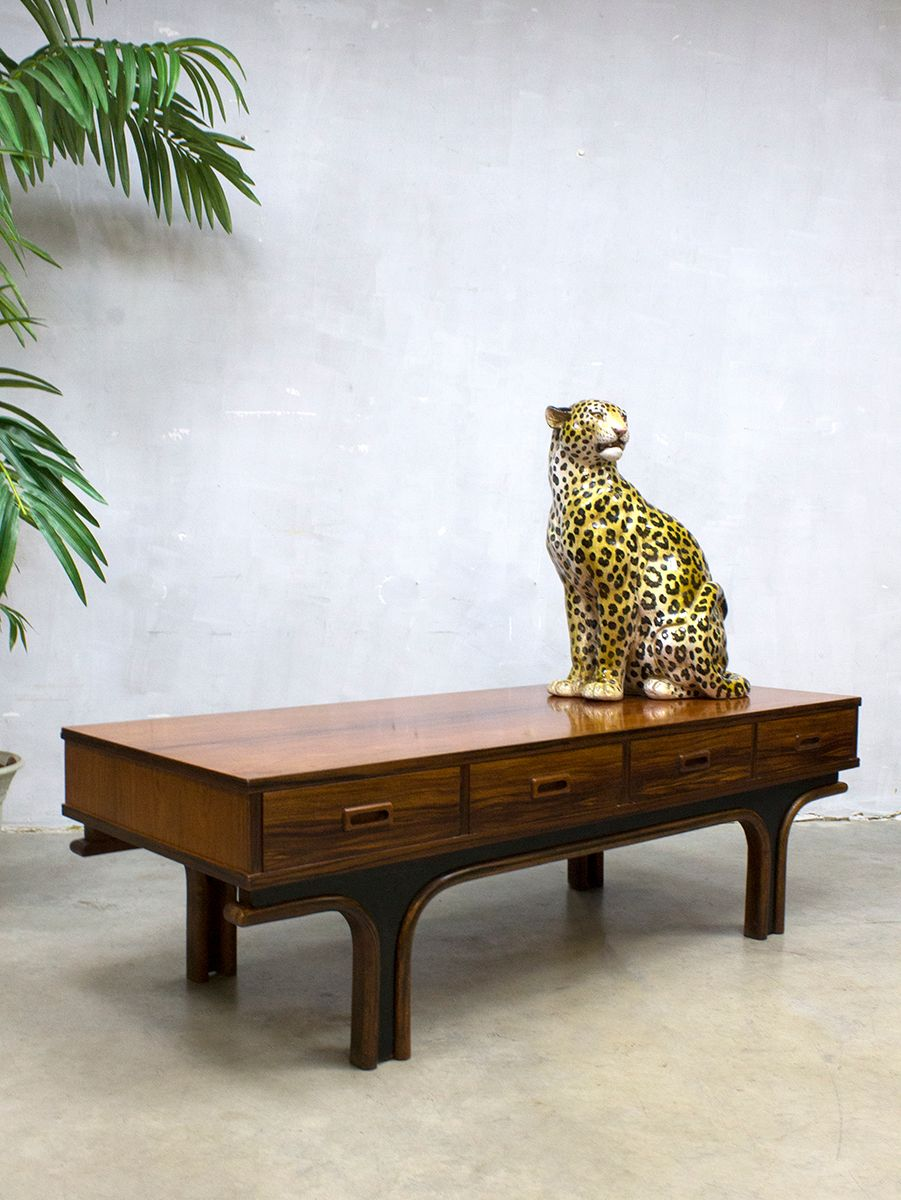 Low Coffee Table By Gianfranco Frattini For Bernini 1950s For Sale At Pamono