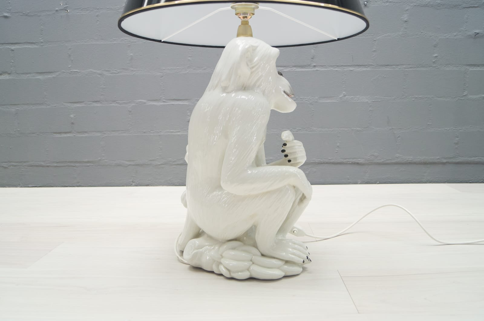 Vintage italian ceramic monkey floor lamp 1960s for sale at pamono price per piece geotapseo Gallery