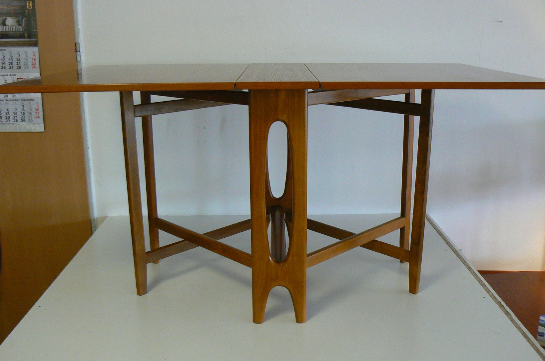 Vintage Folding Teak Dining Table by Bendt Winge for  : vintage folding teak dining table by bendt winge for kleppe mobelfabrikk 11 from www.pamono.com size 1807 x 1200 jpeg 154kB