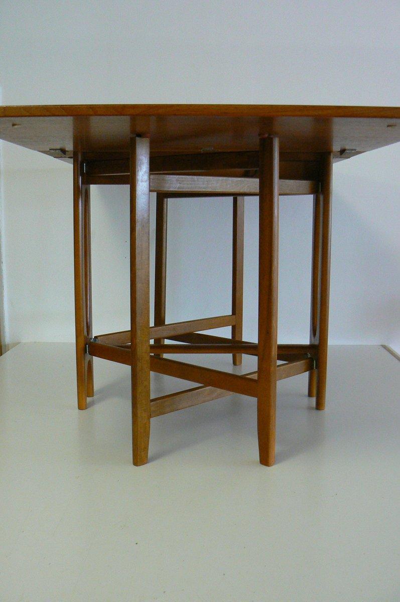 Vintage Folding Teak Dining Table by Bendt Winge for  : vintage folding teak dining table by bendt winge for kleppe mobelfabrikk 9 from www.pamono.com size 796 x 1200 jpeg 58kB