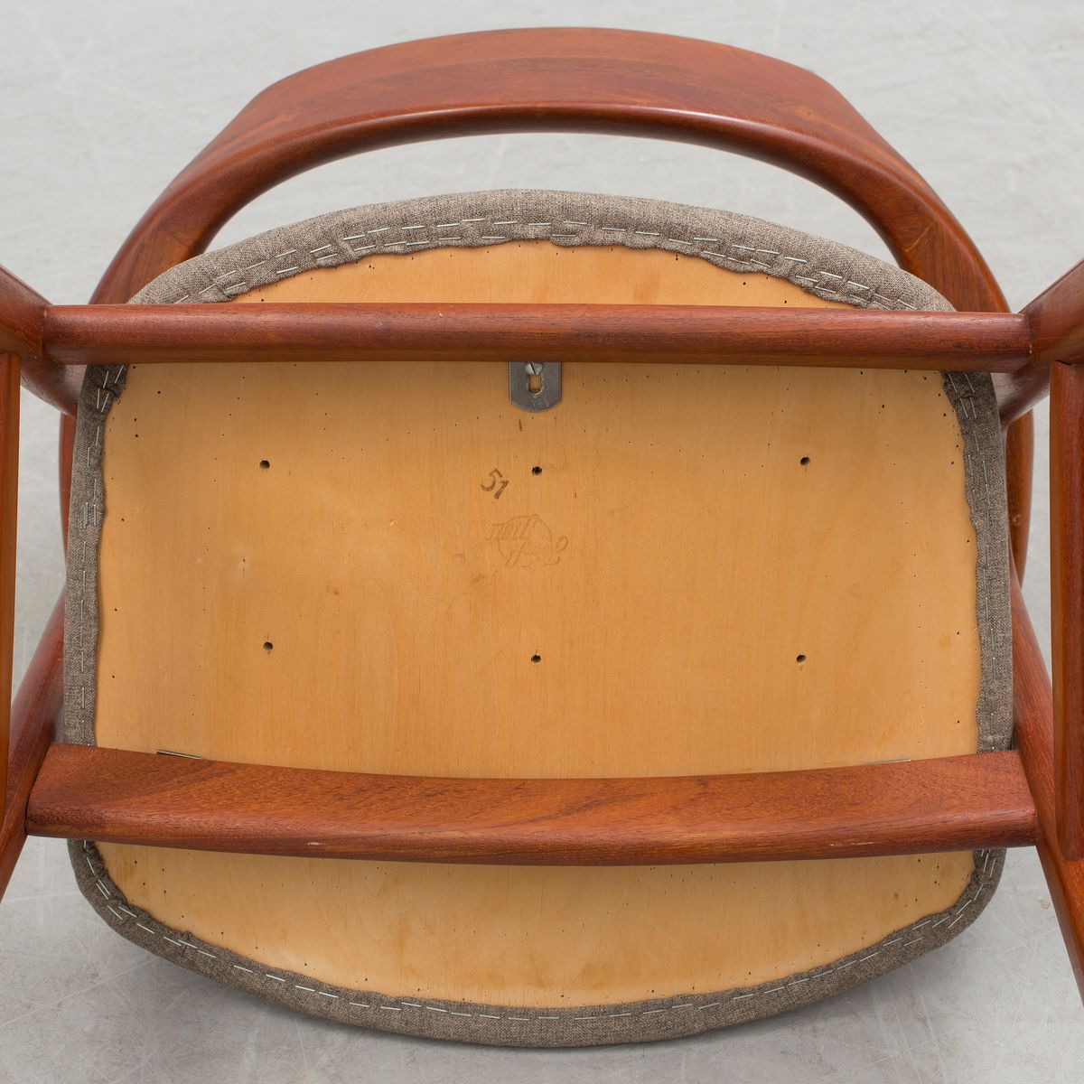 d nischer vintage schreibtischstuhl von erik kirkegaard f r h ng stolefabrik 1950er bei pamono. Black Bedroom Furniture Sets. Home Design Ideas