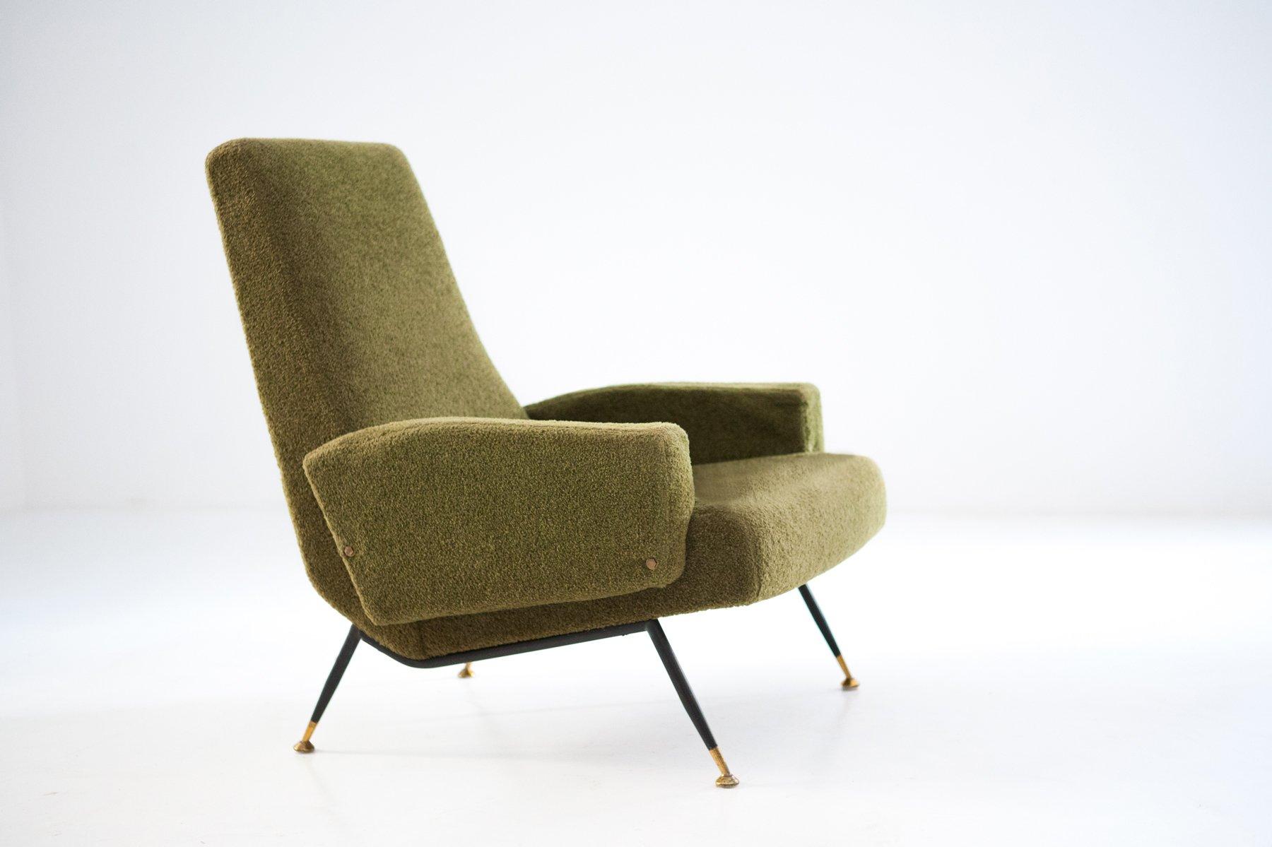 italienischer mid century sessel 1950er bei pamono kaufen. Black Bedroom Furniture Sets. Home Design Ideas