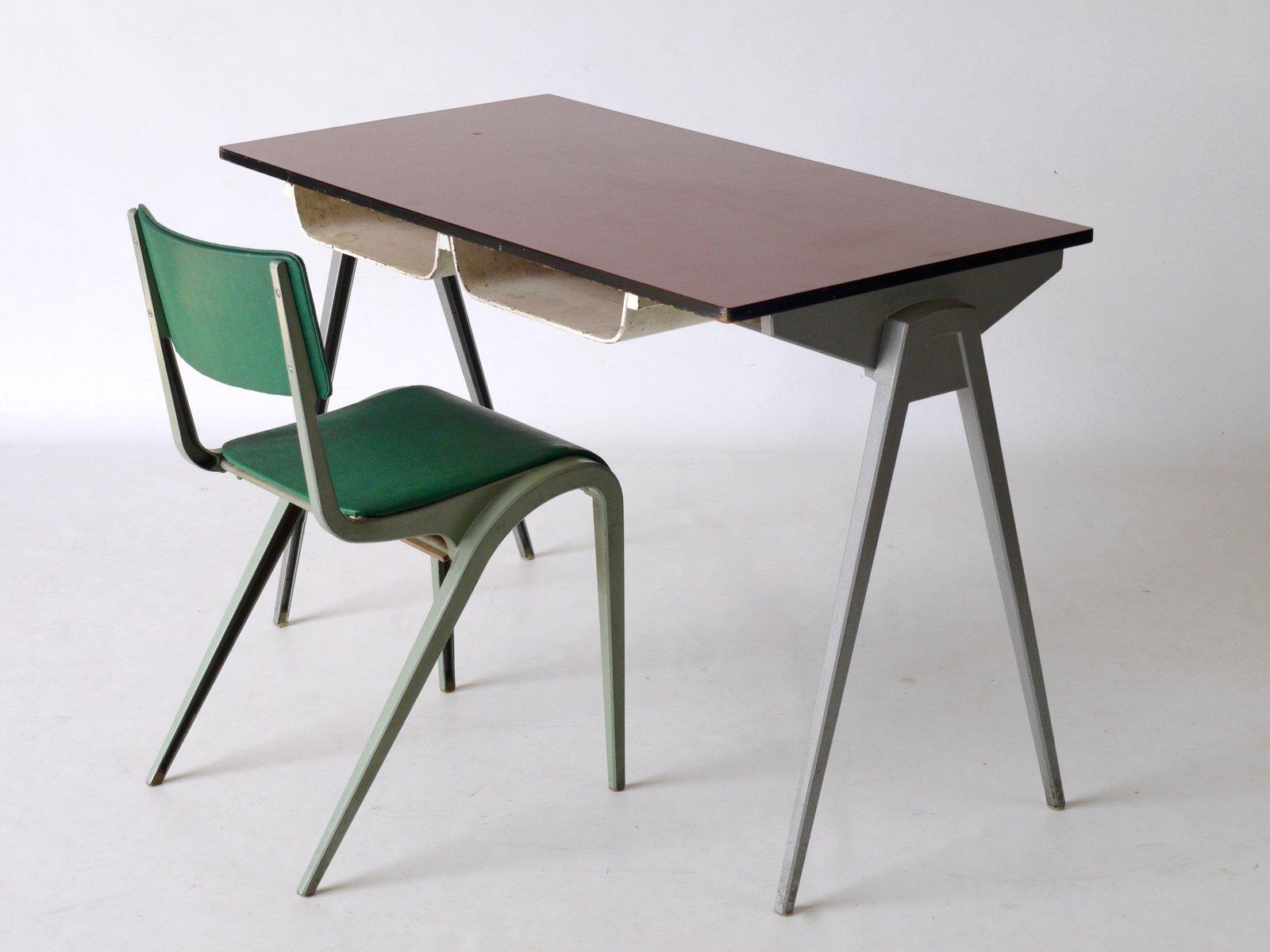 schreibtisch stuhl von james leonard f r esa 1950er bei. Black Bedroom Furniture Sets. Home Design Ideas