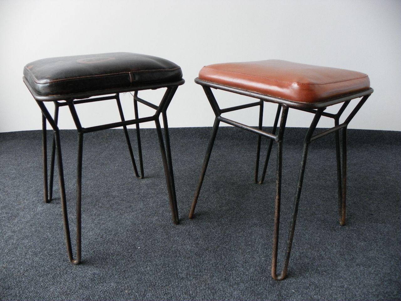 polnische industrielle hocker 1960er 2er set bei pamono kaufen. Black Bedroom Furniture Sets. Home Design Ideas