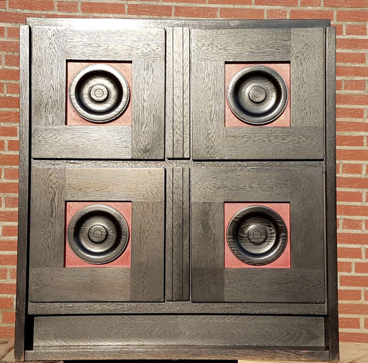 belgischer brutalistischer vintage barschrank bei pamono. Black Bedroom Furniture Sets. Home Design Ideas