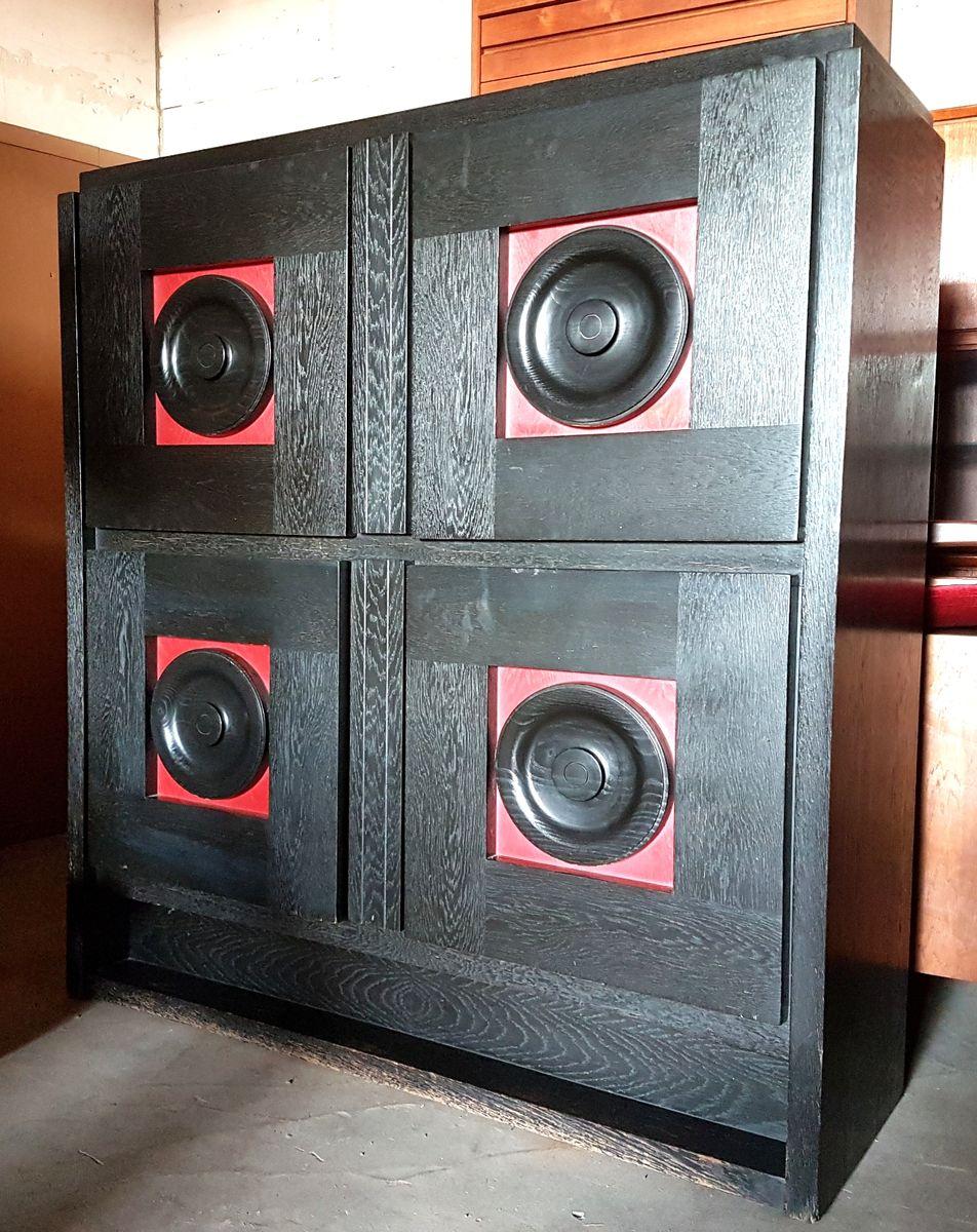 belgischer brutalistischer vintage barschrank bei pamono kaufen. Black Bedroom Furniture Sets. Home Design Ideas