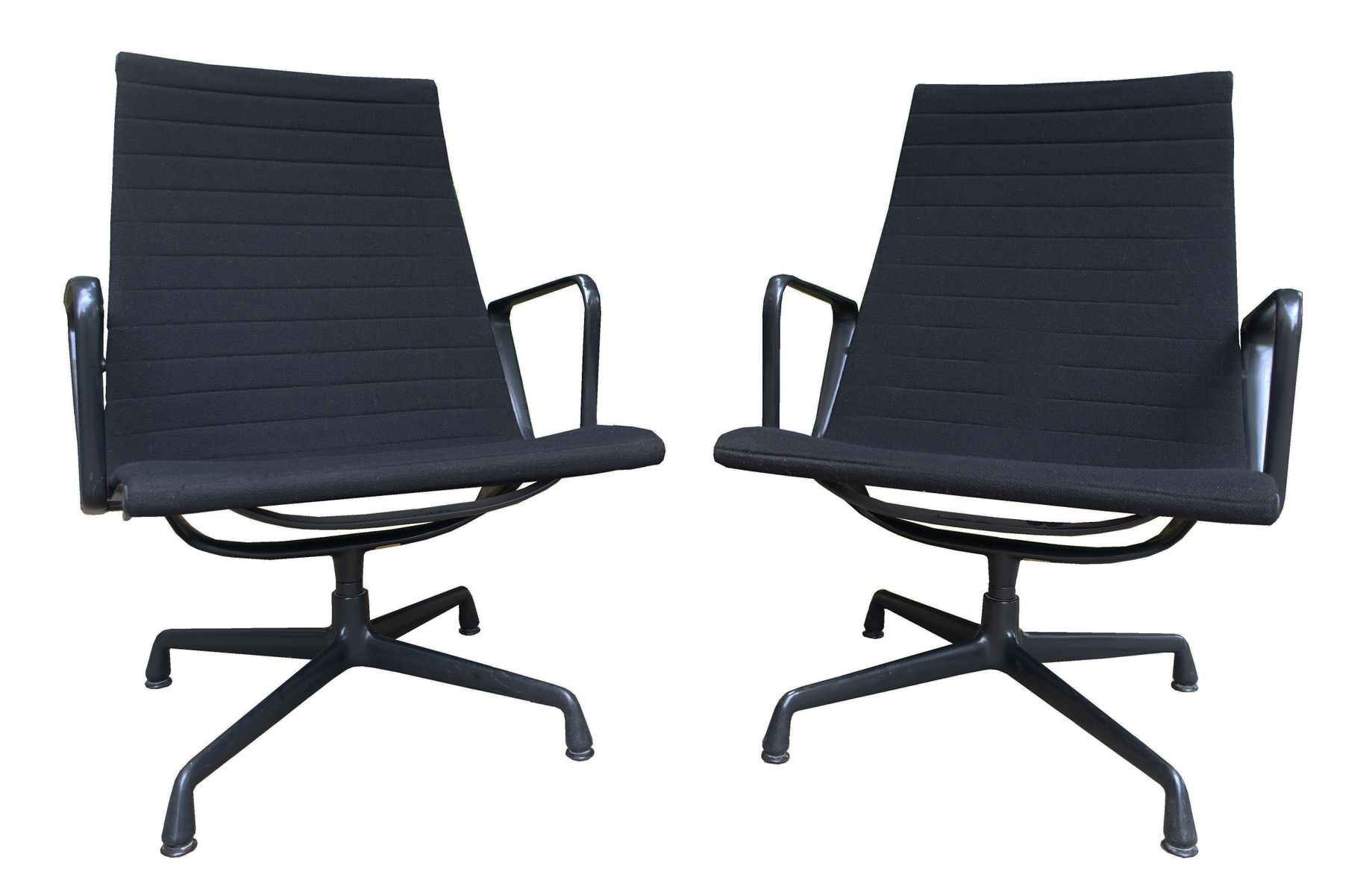 Mid Century EA 115 Alu Lounge Chair by Charles & Ray Eames for
