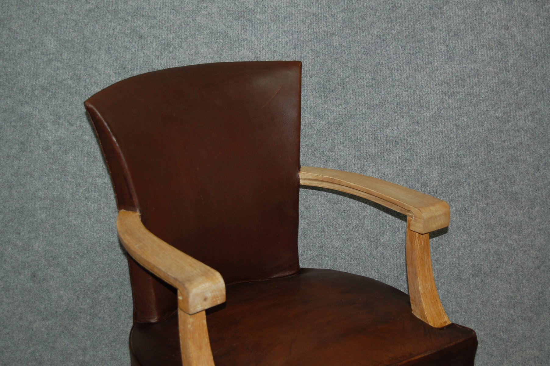 Art Deco Leather fice Chair 1930s for sale at Pamono