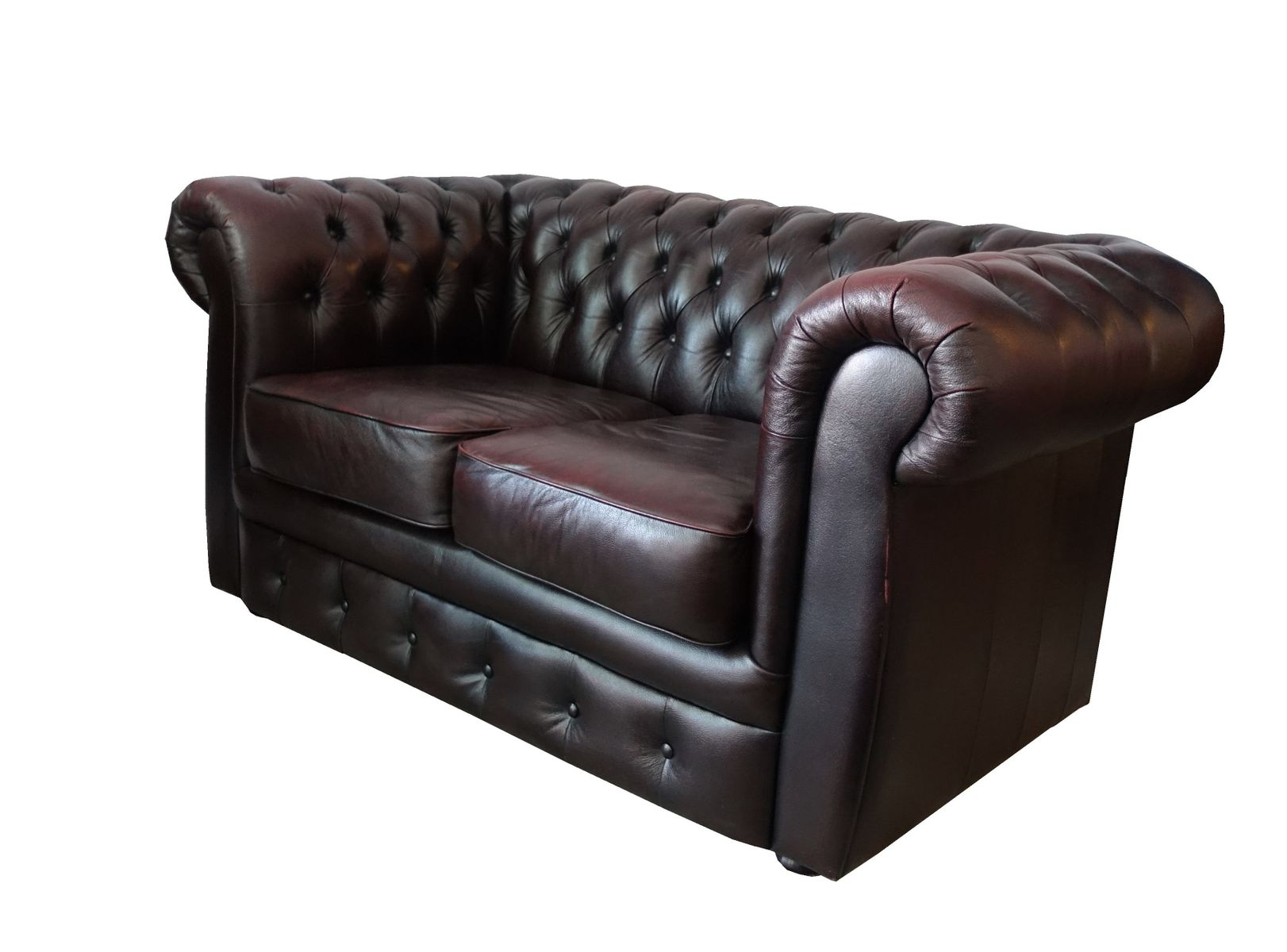 Vintage Chesterfield Quilted Leather Sofa for sale at Pamono